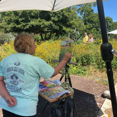 Painting at Central Gardens of North Iowa